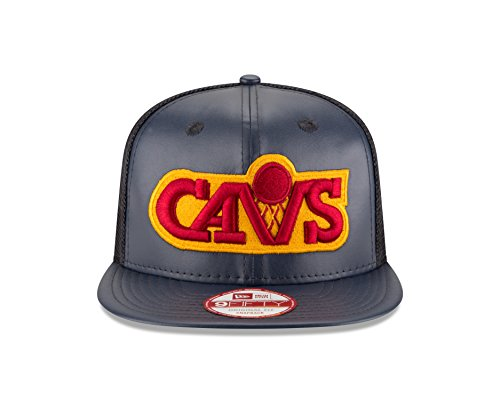 746bb8950 NBA Cleveland Cavaliers Team Sleek Trucker 9Fifty Original Fit Cap, One  Size, Black
