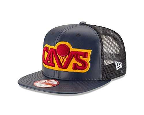 NBA-Cleveland-Cavaliers-Team-Sleek-Trucker-9Fifty-Original-Fit-Cap-One-Size-Black-0