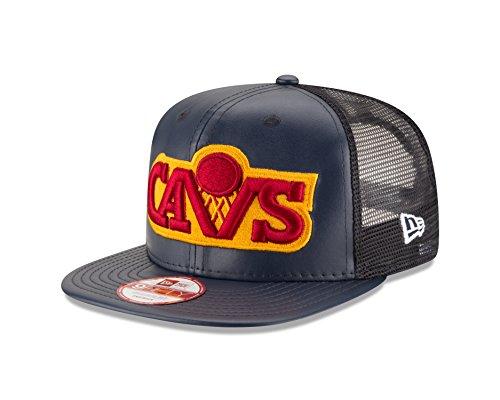 NBA Cleveland Cavaliers Team Sleek Trucker 9Fifty Original Fit Cap ... a5af2947114