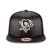 NHL-Pittsburgh-Penguins-Team-Sleek-Trucker-9Fifty-Original-Fit-Cap-One-Size-Black-0-1
