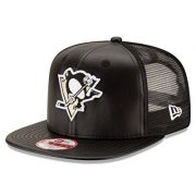 NHL-Pittsburgh-Penguins-Team-Sleek-Trucker-9Fifty-Original-Fit-Cap-One-Size-Black-0
