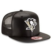NHL-Pittsburgh-Penguins-Team-Sleek-Trucker-9Fifty-Original-Fit-Cap-One-Size-Black-0-2
