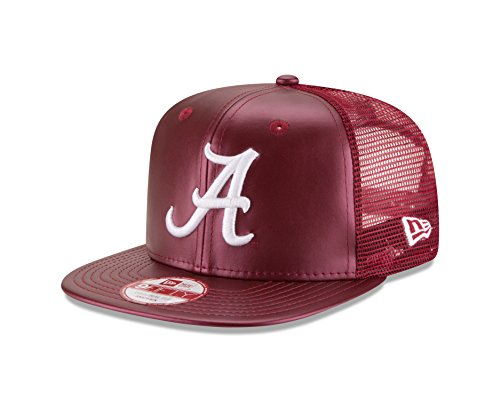 NCAA-Alabama-Crimson-Tide-Mens-Team-Sleek-Trucker-9FIFTY-Snapback-Cap-Maroon-One-Size-0