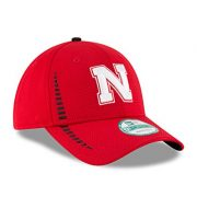 NCAA-Nebraska-Cornhuskers-Unisex-New-Era-NCAA-NE-Speed-9FORTY-Adjustable-Cap-Red-One-Size-0-2
