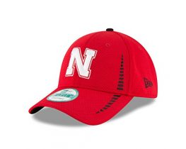 NCAA-Nebraska-Cornhuskers-Unisex-New-Era-NCAA-NE-Speed-9FORTY-Adjustable-Cap-Red-One-Size-0